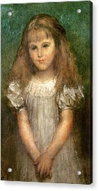 Nellie Ionides Acrylic Print by George Frederick Watts