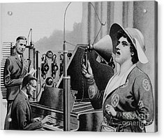Nellie Melba Performing For Radio Acrylic Print by Pat Nicolle