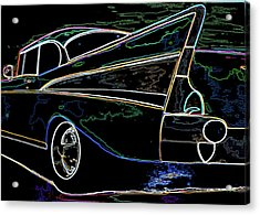 Neon 57 Chevy Bel Air Acrylic Print