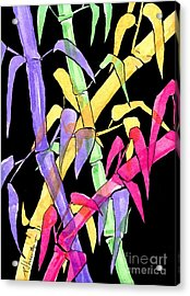Neon Bamboo Acrylic Print by P J Lewis