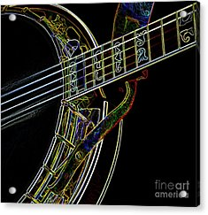 Acrylic Print featuring the photograph Neon Banjo  by Wilma Birdwell