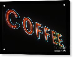 Acrylic Print featuring the photograph Neon Coffee by Jim and Emily Bush