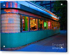 Neon Diner Acrylic Print by Crystal Nederman