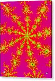 Neon Fractals Acrylic Print