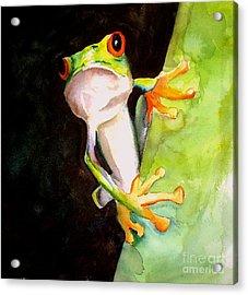 Neon Frog Acrylic Print