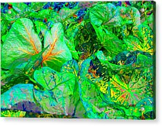 Acrylic Print featuring the photograph Neon Garden Fantasy 1 by Marianne Dow