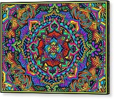 Neon Kisses Acrylic Print