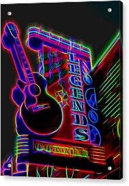 Neon Legends Corner Nashville Acrylic Print