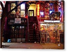 Neon Lights - New York City At Night Acrylic Print