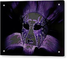 Neon Mardi Gras Acrylic Print