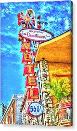 Neon Motel Sign Acrylic Print