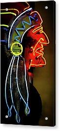 Neon Navajo Acrylic Print by David Patterson