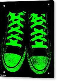 Neon Nights Acrylic Print by Ed Smith