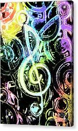 Neon Notes Acrylic Print