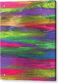 Neon Rainbow Acrylic Print