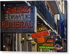 Neon Signs New Orleans Acrylic Print by Garry Gay