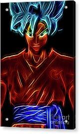 Neon Ss God Goku Acrylic Print