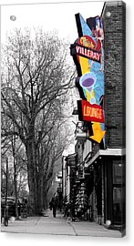 Neon Strip Acrylic Print by Russell Styles