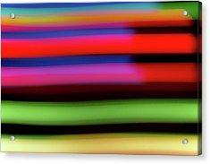 Neon Stripe Acrylic Print