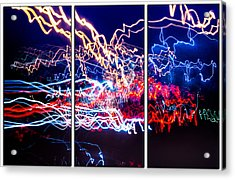 Neon Ufa Triptych Number 1 Acrylic Print by John Williams