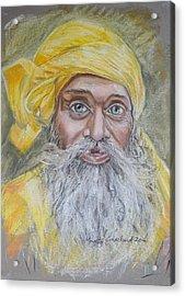 Nepal Man 6 Acrylic Print by Marty Garland