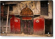 Nepalese Door Acrylic Print