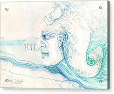 Neptune Acrylic Print by Amrei Al-Tobaishi-Jarosch