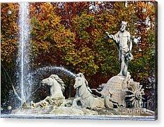 Neptune Fountain Paseo Del Prado Madrid Acrylic Print