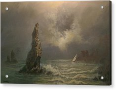 Neptune's Finger Acrylic Print by Tom Shropshire