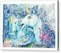 Neptune's Horses Acrylic Print