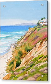 Neptune's View Leucadia California Acrylic Print by Mary Helmreich