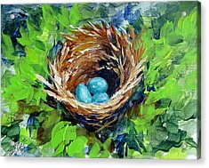 Acrylic Print featuring the painting Nesting Eggs by Gloria Turner