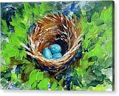 Nesting Eggs Acrylic Print by Gloria Turner