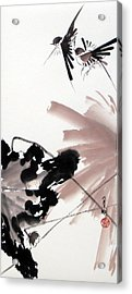 Nesting From Dawn To Dusk Acrylic Print by Ming Yeung