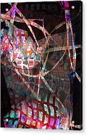 Net Acrylic Print by Dave Kwinter