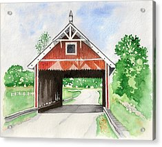 Netcher Road Bridge Acrylic Print by Laurie Anderson