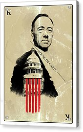Netflix House Of Cards Frank Underwood Portrait  Acrylic Print