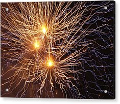 Network Of Fire Acrylic Print by Michael Canning