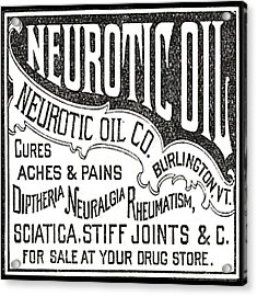 Neurotic Vintage Ad Acrylic Print by Marianne Dow