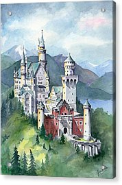 Neuschwanstein Acrylic Print by Jean White