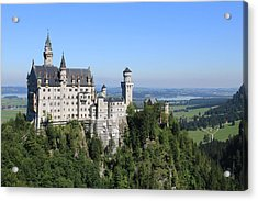 Neuschwastein Castle Acrylic Print by Michael  Kenney