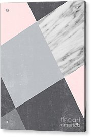 Neutral Collage With Marble Acrylic Print