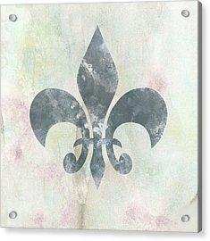 Neutral Fleur De Lys Acrylic Print