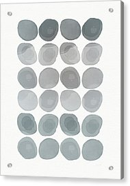 Neutral Stones- Art By Linda Woods Acrylic Print by Linda Woods