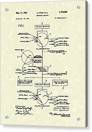 Neutronic Reactor Fermi And Szilard 1955 Patent Art Acrylic Print by Prior Art Design