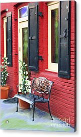 Nevada City Bench Acrylic Print