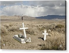 Nevada Grave Acrylic Print by Suzanne Lorenz