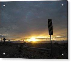 Nevada Landing Acrylic Print by Roman Lezo
