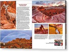 Nevada Magazine Acrylic Print by James Marvin Phelps