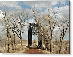 Nevada Railroad Bridge Acrylic Print
